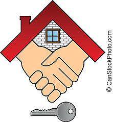 Ein Haus kaufen - Konzept