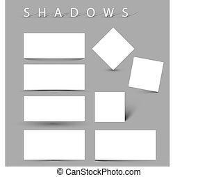 Ein Hort von Schatteneffekten