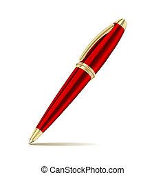 Ein isolierter Stift im weißen Hintergrund