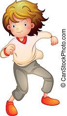 Ein Junge tanzt