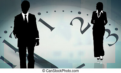 Ein junges Geschäftsteam arbeitet zusammen