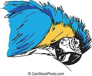 Ein Kackvogel. Vektor Illustration