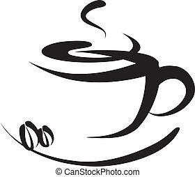 Ein Kaffee-Logo