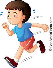 Ein Kind rennt