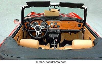Ein klassischer Sportwagen