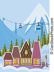 Ein kleiner Skiort