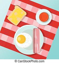 Ein kleines Frühstück.