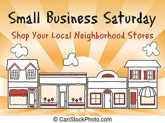 Ein kleines Geschäft am Samstag