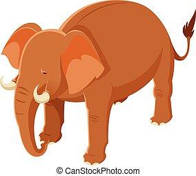Ein komischer, brauner Elefant.