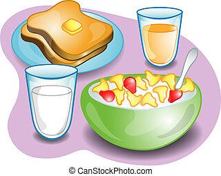 Ein komplettes Frühstück