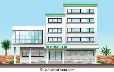 Ein Krankenhausgebäude.