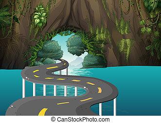 Ein langer Weg in der Höhle