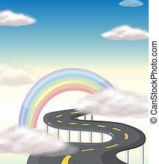 Ein langer, windender Weg zum Regenbogen