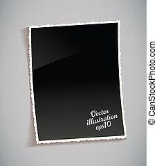 Ein leerer klassischer Fotorahmen auf dem Tisch