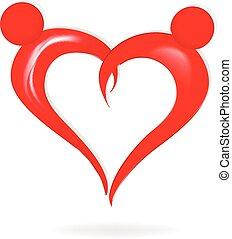 Ein Liebes-Herz-Logo