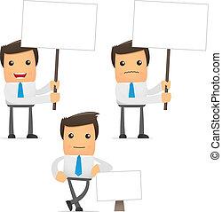 Ein lustiger Cartoon Büroangestellter