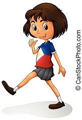 Ein Mädchen aus Singapur.