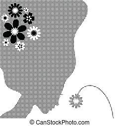 Ein Mädchen mit einer Blume