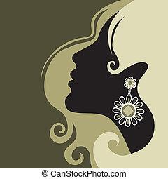 Ein Mädchen mit schönen Haaren