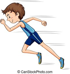 Ein Mann, der im Rennen läuft.