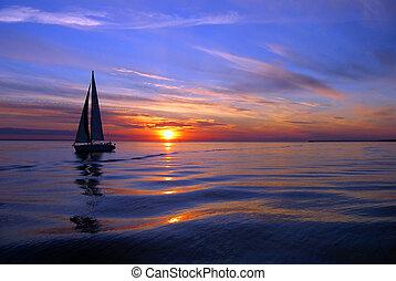 Ein Meer von Farben segeln