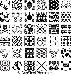 Ein Monochrome, geometrische, nahrlose Muster