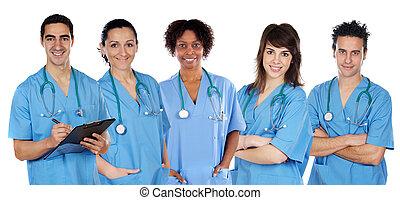 Ein multiethnisches medizinisches Team.
