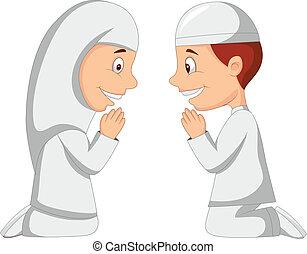 Ein muslimischer Kinder Cartoon