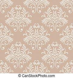 Ein nahtloses Muster. Floral ornate Tapete. Vector damask Hintergrund mit dekorativen Ornamenten und Blumen im barocken Stil. Luxus endlose Textur.