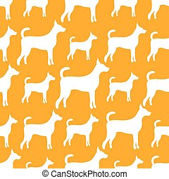 Ein nahtloses Vektormuster von Hundesilhouetten