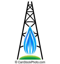 Ein Naturgas-Rahmen-Ikone.