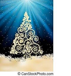 Ein neues Jahr mit Weihnachtsbaum. EPS 8