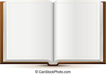 Ein offenes Buch in Hardcover