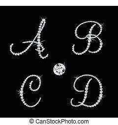 Ein Paar alphabetischer Buchstaben. Vector