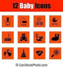 Ein Paar Baby-Ikonen