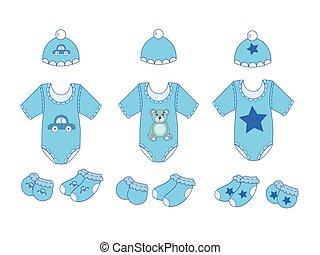 Ein Paar Babykleider für den Vektor.