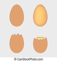 Ein Paar Eier.