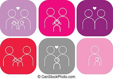 Ein Paar Familien-Ikonen