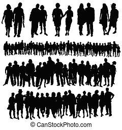 Ein paar große Gruppen von Menschenvektoren