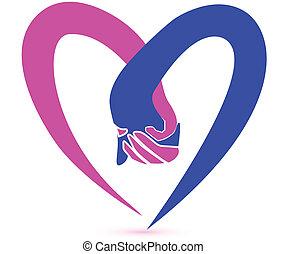 Ein paar Händchen-Logo-Vektor.