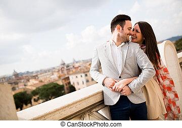 Ein Paar in Rom.