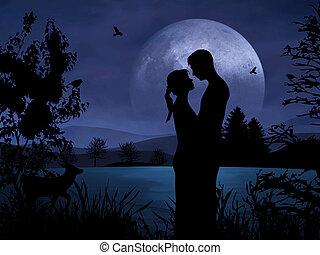 Ein Paar in Romantik
