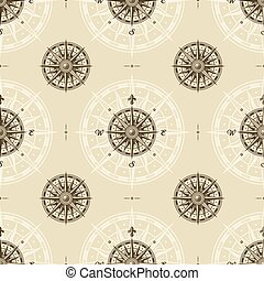 Ein paar Jahre altes Kompassrosemuster