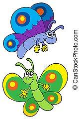 Ein Paar lächelnde Schmetterlinge