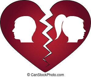 Ein Paar lässt sich scheiden