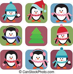 Ein paar Pinguine.