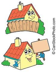 Ein Paar süßer Häuser