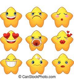 Ein paar Smileys-Stars