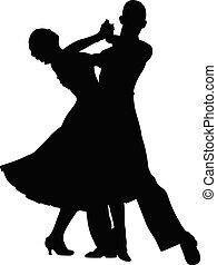 Ein paar Tänzer.