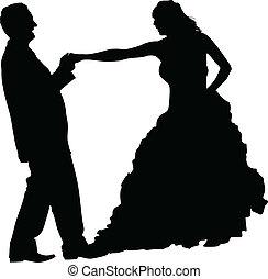 Ein Paar tanzen.